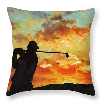 A New Dawn Throw Pillow by Catf