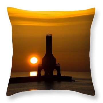 A New Day Throw Pillow by James  Meyer