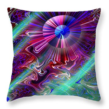 A New Thought Throw Pillow by Carl Hunter