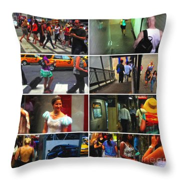 A New York Minute Throw Pillow by Nishanth Gopinathan