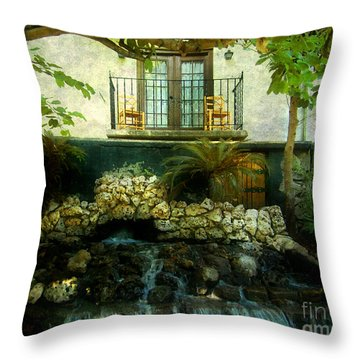 A Peaceful Night  Throw Pillow by Peggy  Franz