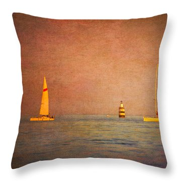 A Perfect Summer Evening Throw Pillow by Loriental Photography