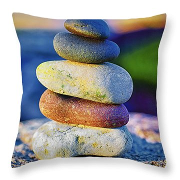 A Place Of Peace Throw Pillow by Christi Kraft
