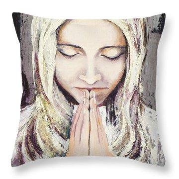 A Prayer... Throw Pillow by Elisabeta Hermann