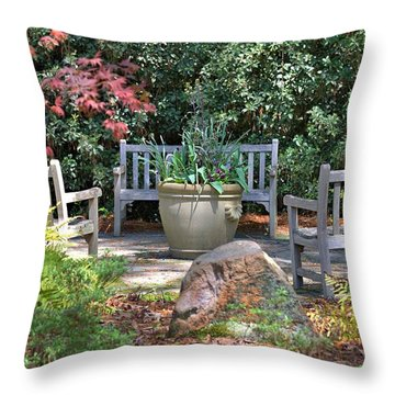 A Quiet Place To Meet Throw Pillow by Gordon Elwell