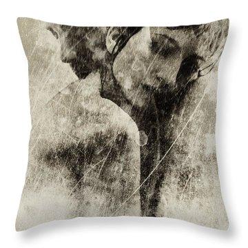 A Rainy Day We Need Closeness Throw Pillow by Gun Legler
