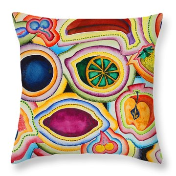 A Real Cut Up Throw Pillow by Shannan Peters