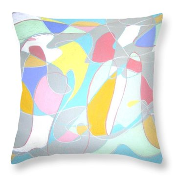A Reasonable Composition Throw Pillow by Esther Newman-Cohen