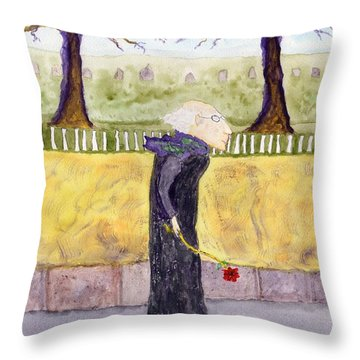 A Rose For My Dear Throw Pillow by Jim Taylor
