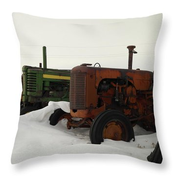 A Row Of Relics Throw Pillow by Jeff Swan
