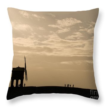 A Sense Of Perspective Throw Pillow by Anne Gilbert