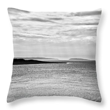 A Simple Welsh Coast Throw Pillow by Georgia Fowler