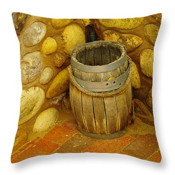 A Sole Barrel Throw Pillow by Jeff Swan