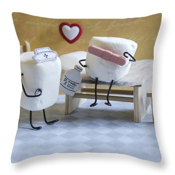 A Spoonful Of Sugar Throw Pillow by Heather Applegate