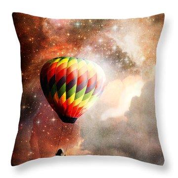A Starry Ride Throw Pillow by Stephanie Frey