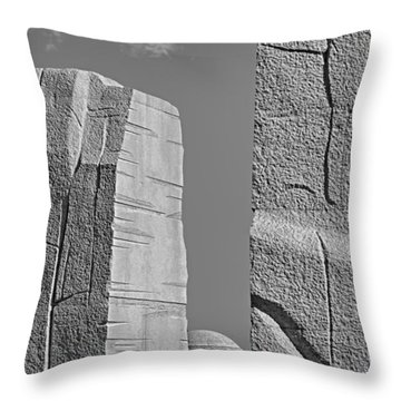 A Stone Of Hope Bw Throw Pillow by Susan Candelario
