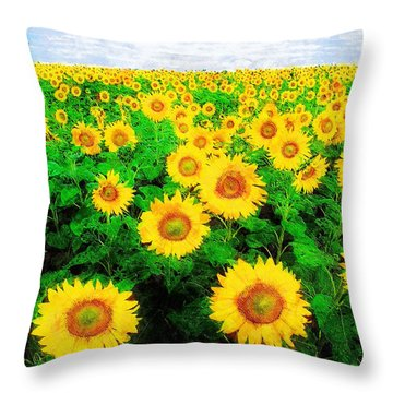 A Sunny Day With Vincent Throw Pillow by Sandy MacGowan