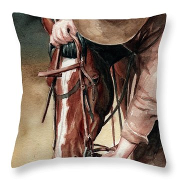 A Useful Horse Throw Pillow by Linda L Martin