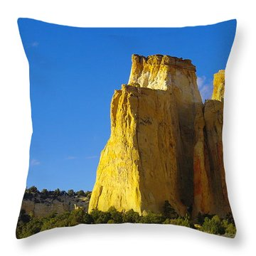 A View In The Grand Escalante Staircase Throw Pillow by Jeff Swan