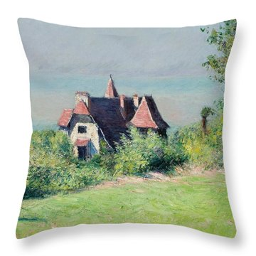 A Villa At Trouville Throw Pillow by Gustave Caillebotte