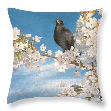 A Voice Of Joy And Gladness Throw Pillow by John Samuel Raven