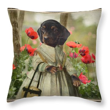 A Walk In The Garden Throw Pillow by Terry Fleckney