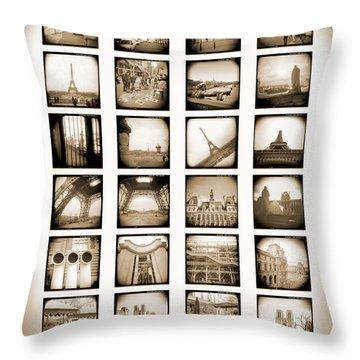 A Walk Through Paris Throw Pillow by Mike McGlothlen