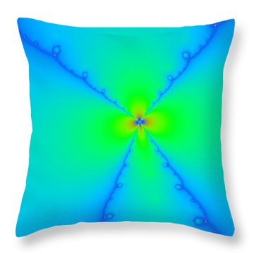 A Wild Woven Flower Throw Pillow by Jeff Swan