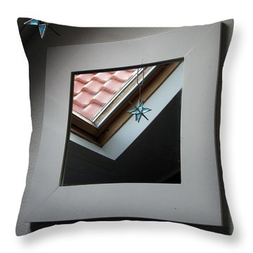 A Window To Parallel World Throw Pillow by Ausra Huntington nee Paulauskaite