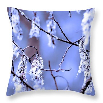 A Withered Branch Throw Pillow by Toppart Sweden