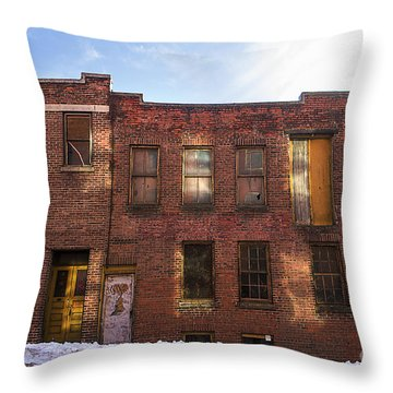 Abandoned Throw Pillow by Diane Diederich