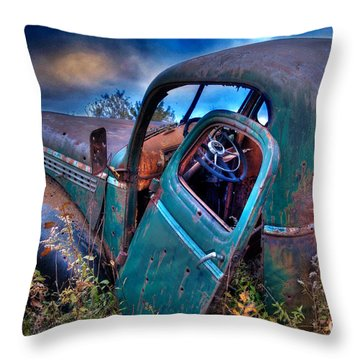 Abandoned II Throw Pillow by Alana Ranney