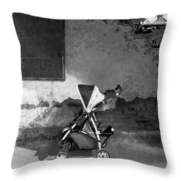 Abandoned - Left Behind  Throw Pillow by Mike Savad