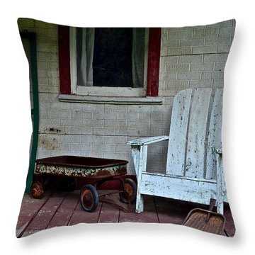 Abandoned Throw Pillow by Frozen in Time Fine Art Photography
