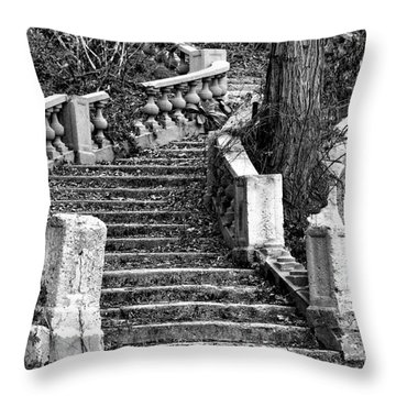 Abandoned Staircase Throw Pillow by Olivier Le Queinec