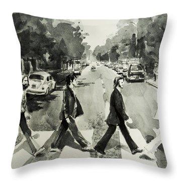 Abbey Road Throw Pillow by Bekim Art