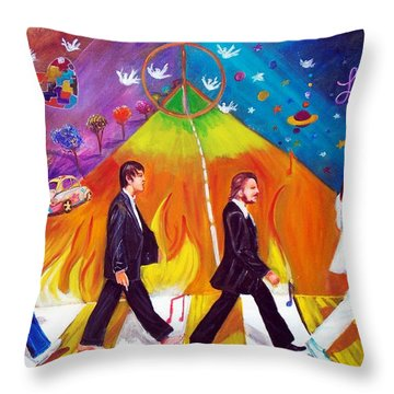 Abbey Road Throw Pillow by To-Tam Gerwe