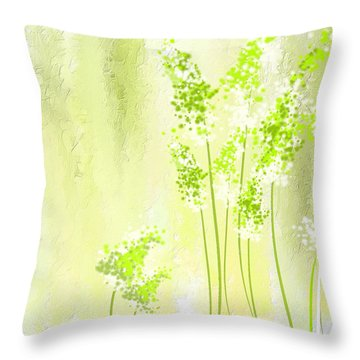 About Spring Throw Pillow by Lourry Legarde