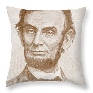 Abraham Lincoln Throw Pillow by American School