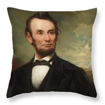 Abraham Lincoln  Throw Pillow by George Henry Story