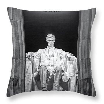 Abraham Lincoln Memorial Throw Pillow by Susan Candelario