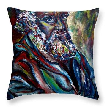 Abraham  Patriarch Throw Pillow by Carole Spandau