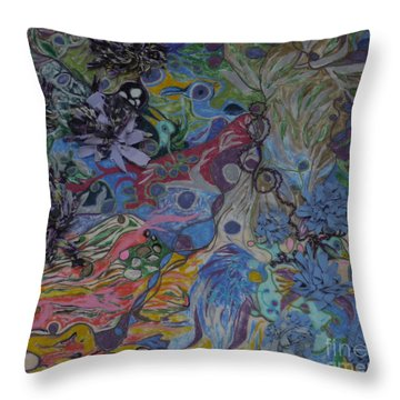 Abstinence Throw Pillow by Heather Hennick