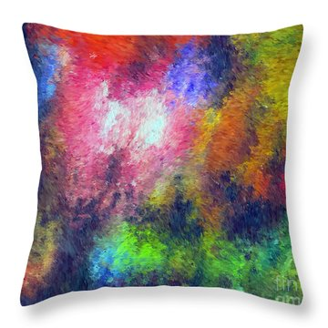 Abstract 296 Throw Pillow by John Krakora