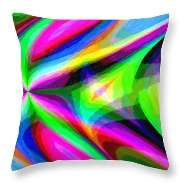 Abstract 45 Throw Pillow by Kenny Francis