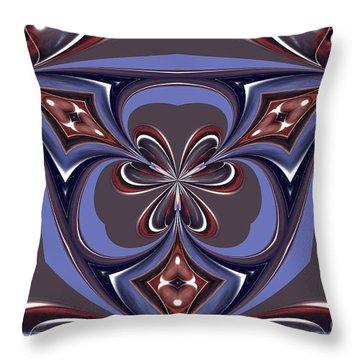 Abstract A027 Throw Pillow by Maria Urso
