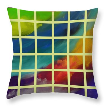 abstract - art- Color Study One Throw Pillow by Ann Powell