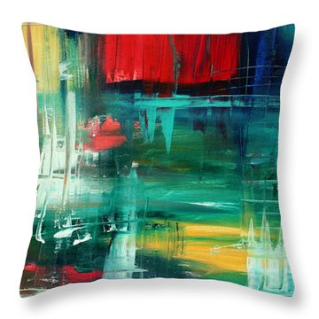 Abstract Art Colorful Original Painting Bold And Beautiful By Madart Throw Pillow by Megan Duncanson