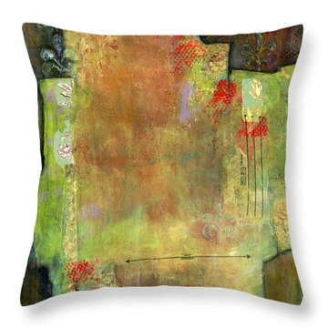 Abstract Art Where The Love Is Throw Pillow by Blenda Studio