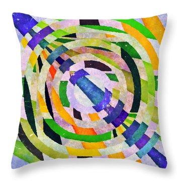 Abstract Circles Throw Pillow by Susan Leggett